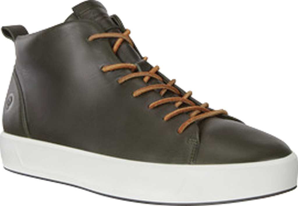 Men's ECCO Soft 8 Mid Cut Sneaker, Deep Forest Leather, large, image 1