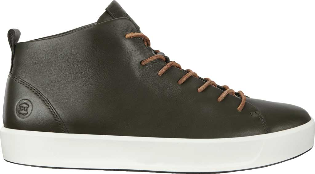Men's ECCO Soft 8 Mid Cut Sneaker, Deep Forest Leather, large, image 2