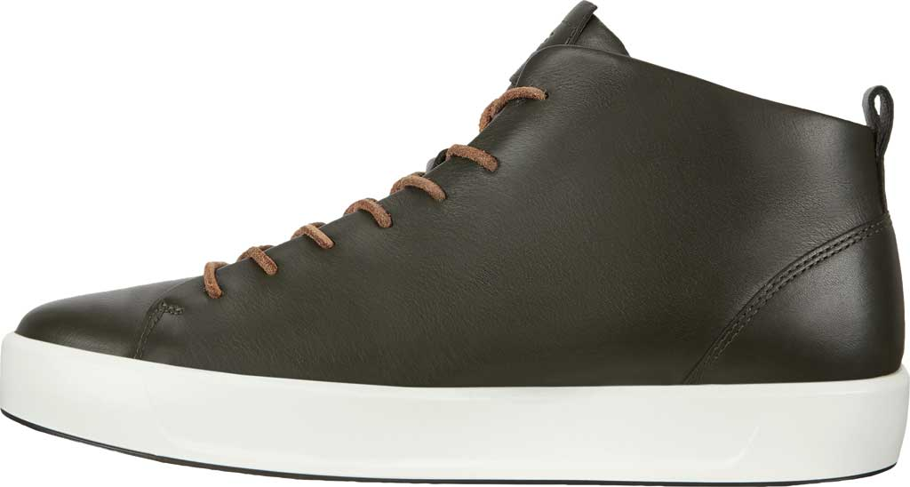 Men's ECCO Soft 8 Mid Cut Sneaker, Deep Forest Leather, large, image 3