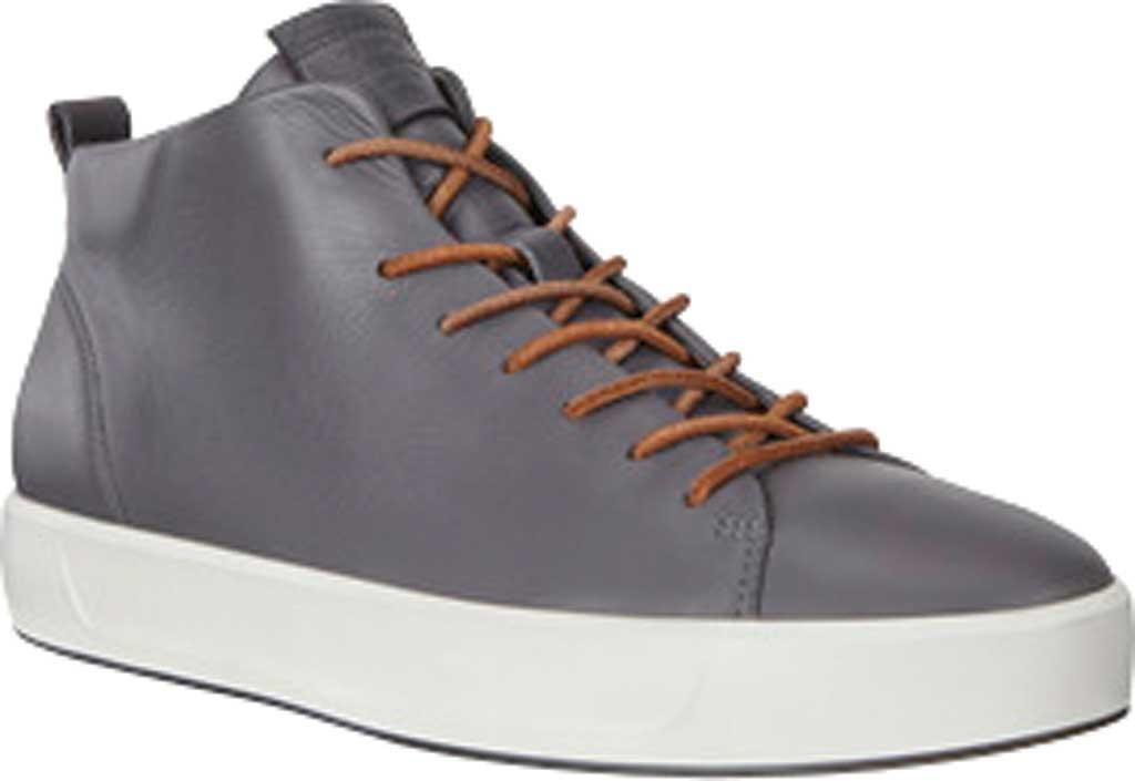 Men's ECCO Soft 8 Mid Cut Sneaker, Magnet Leather, large, image 1