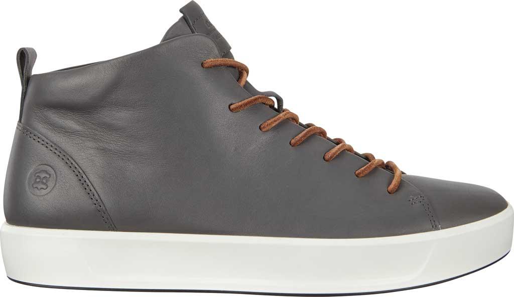 Men's ECCO Soft 8 Mid Cut Sneaker, Magnet Leather, large, image 2