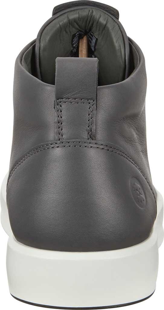 Men's ECCO Soft 8 Mid Cut Sneaker, Magnet Leather, large, image 4