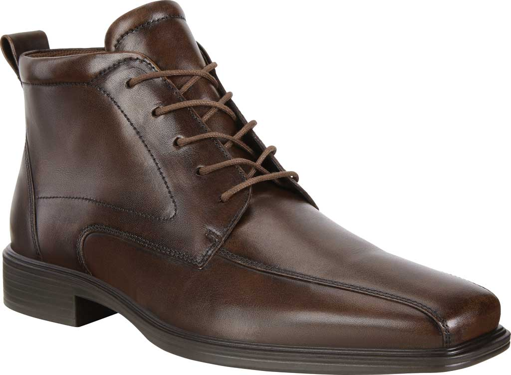 Men's ECCO Minneapolis Bike Toe Chukka Boot, Cocoa Brown Cow Leather, large, image 1