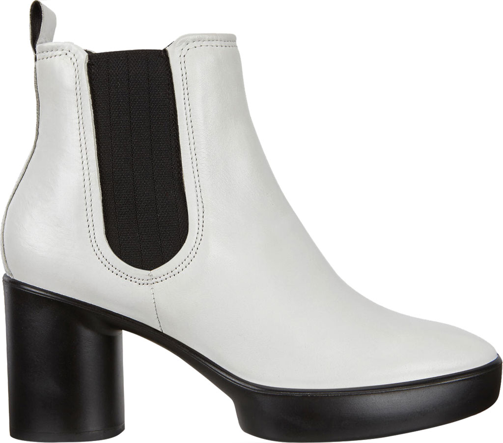 Women's ECCO Shape Sculpted Motion 55 Chelsea Ankle Boot, Bright White Cow Leather, large, image 2