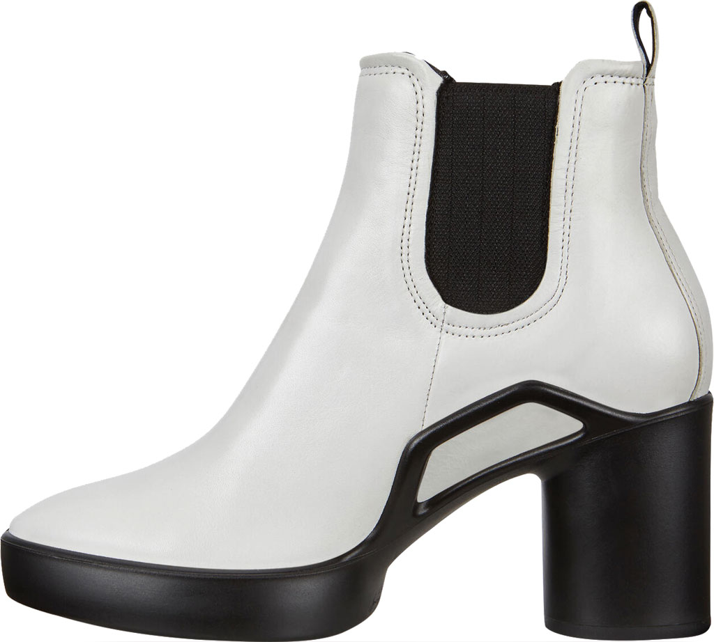 Women's ECCO Shape Sculpted Motion 55 Chelsea Ankle Boot, Bright White Cow Leather, large, image 3