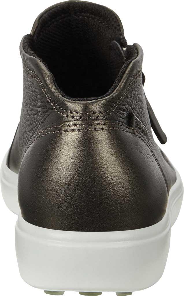 Women's ECCO Soft 7 Zip Bootie, Black Stone Metallic Cow Leather, large, image 4