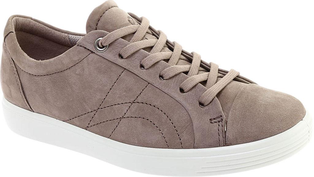 Women's ECCO Soft 7 Stitch Tie Sneaker, Warm Grey Leather, large, image 1