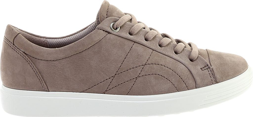 Women's ECCO Soft 7 Stitch Tie Sneaker, Warm Grey Leather, large, image 2