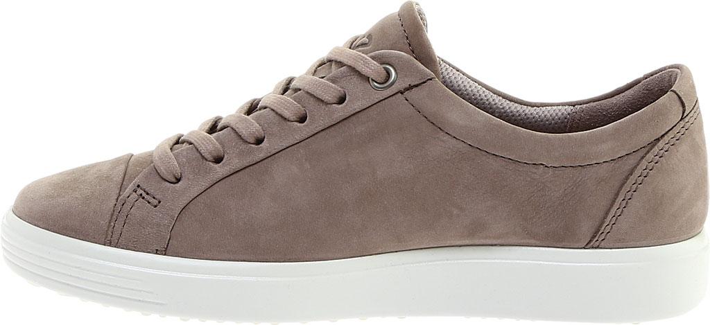 Women's ECCO Soft 7 Stitch Tie Sneaker, Warm Grey Leather, large, image 3