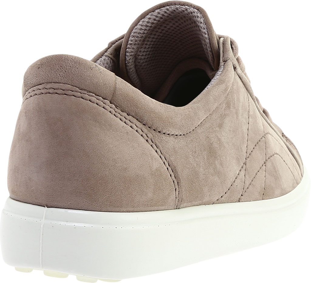 Women's ECCO Soft 7 Stitch Tie Sneaker, Warm Grey Leather, large, image 4
