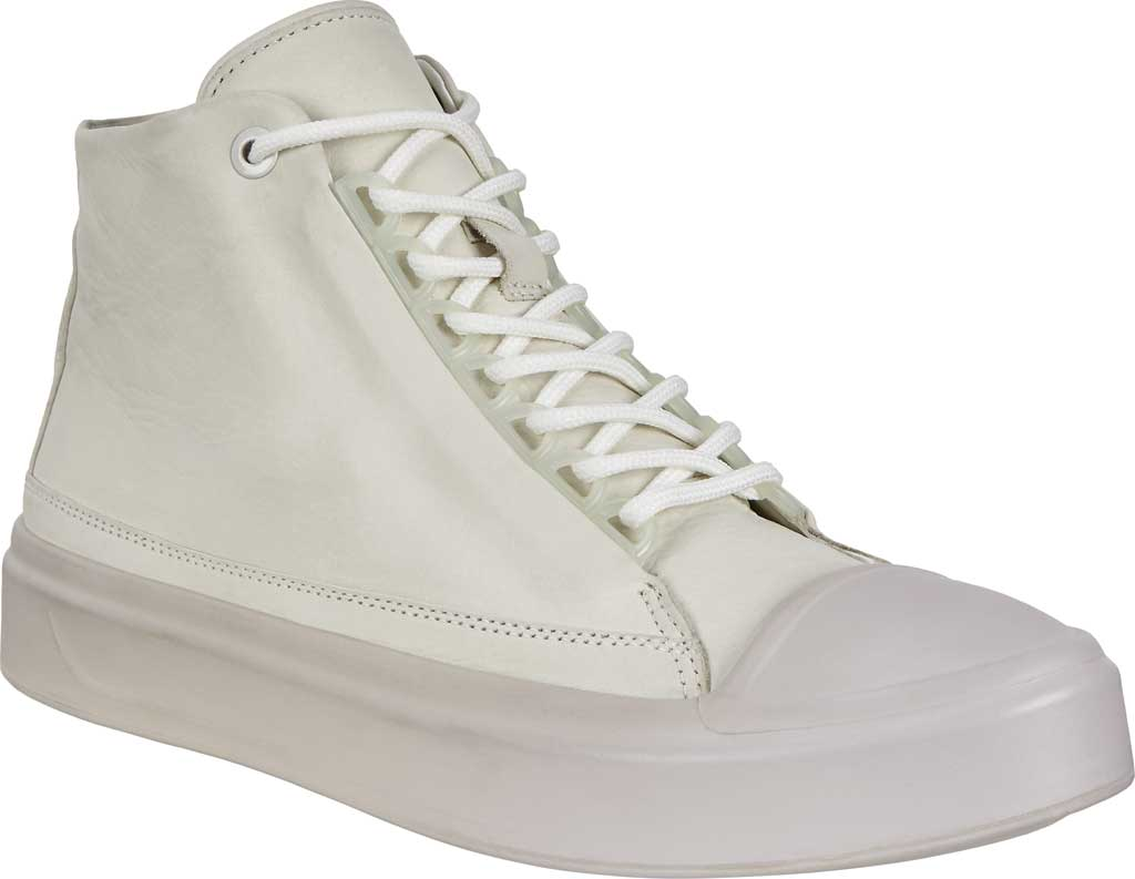 Women's ECCO Flexure T-Cap High Top, Shadow White Leather, large, image 1