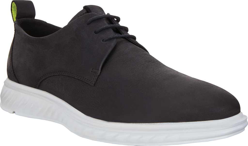 Men's ECCO ST1 Hybrid Lite Plain Toe Oxford, Black Nubuck, large, image 1