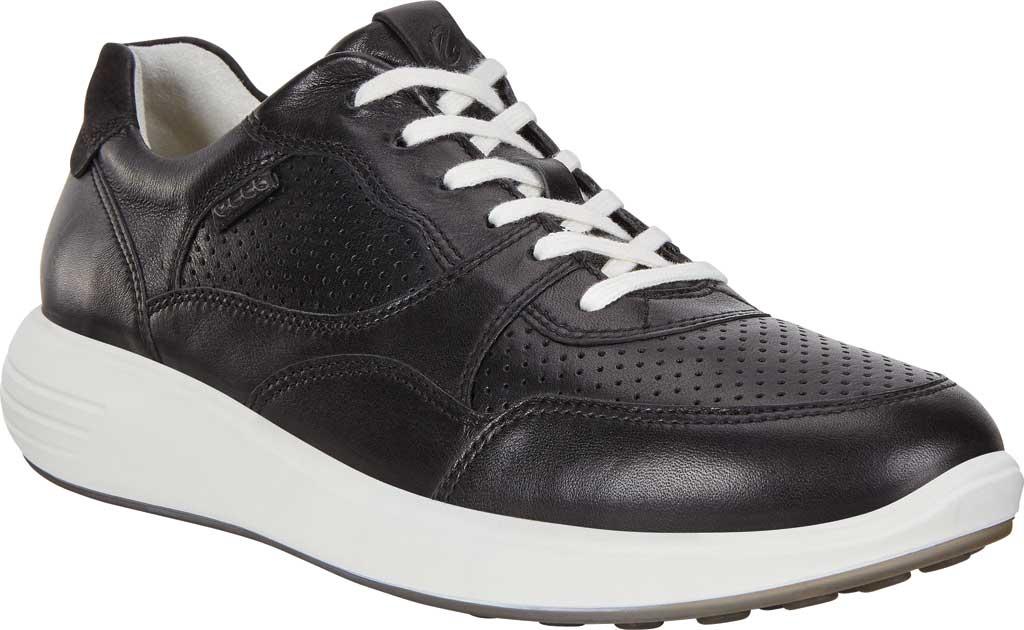 Women's ECCO Soft 7 Runner Fashion Sneaker, Black Full Grain Leather, large, image 1
