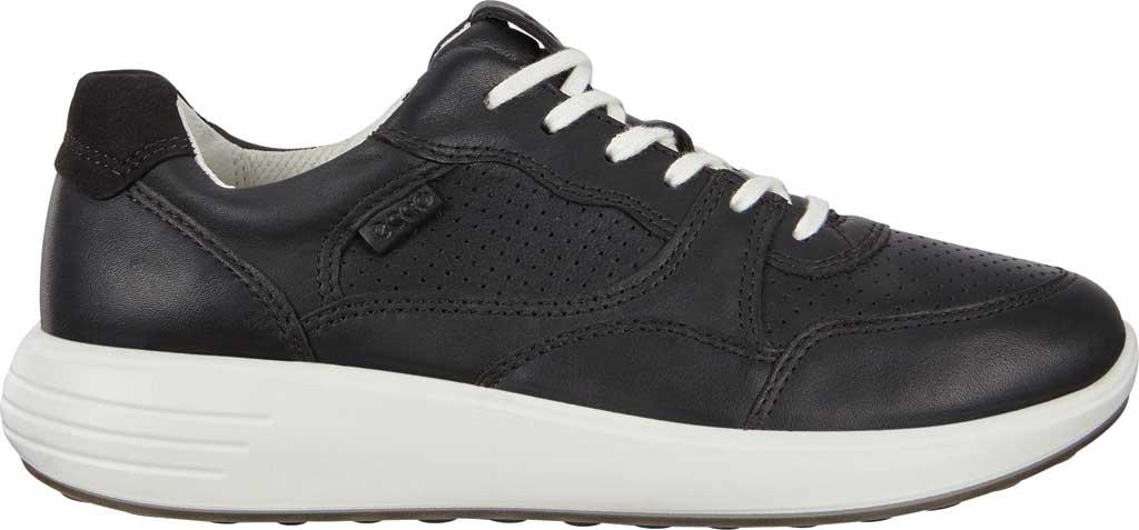 Women's ECCO Soft 7 Runner Fashion Sneaker, Black Full Grain Leather, large, image 2