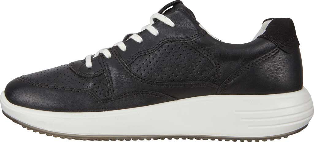 Women's ECCO Soft 7 Runner Fashion Sneaker, Black Full Grain Leather, large, image 3