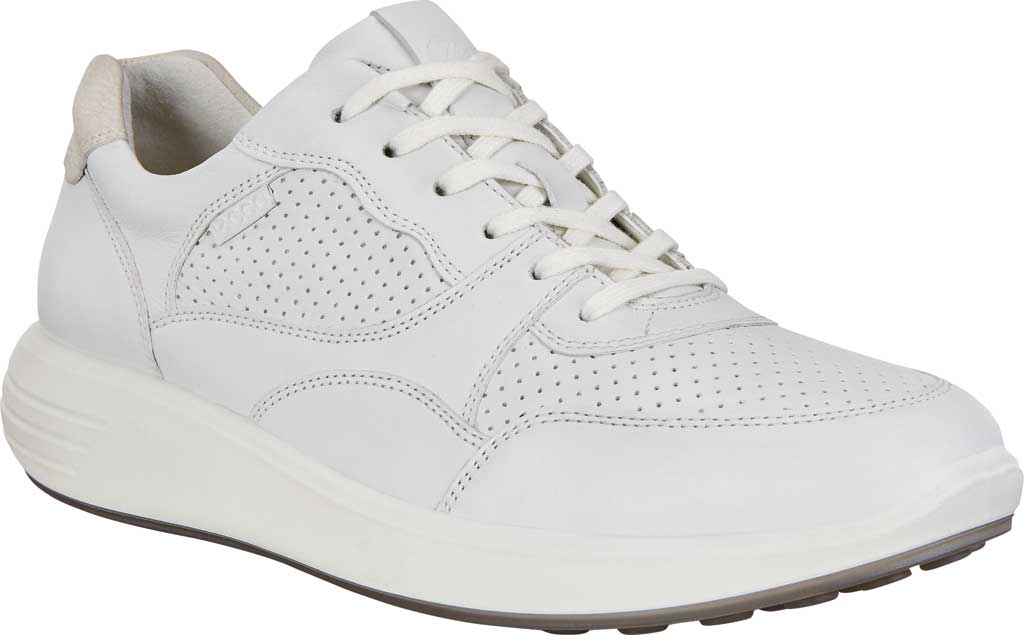 Women's ECCO Soft 7 Runner Fashion Sneaker, White/Shadow White Full Grain Leather, large, image 1