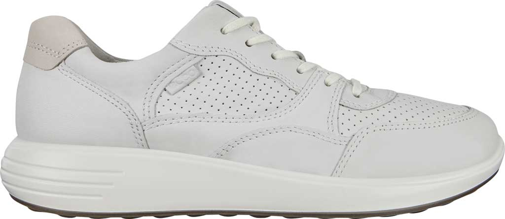 Women's ECCO Soft 7 Runner Fashion Sneaker, White/Shadow White Full Grain Leather, large, image 2