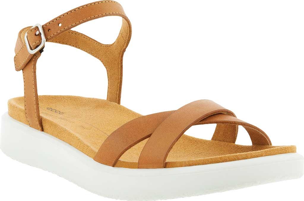 Women's ECCO Yuma Ankle Strap Sandal, Lion Nubuck, large, image 1