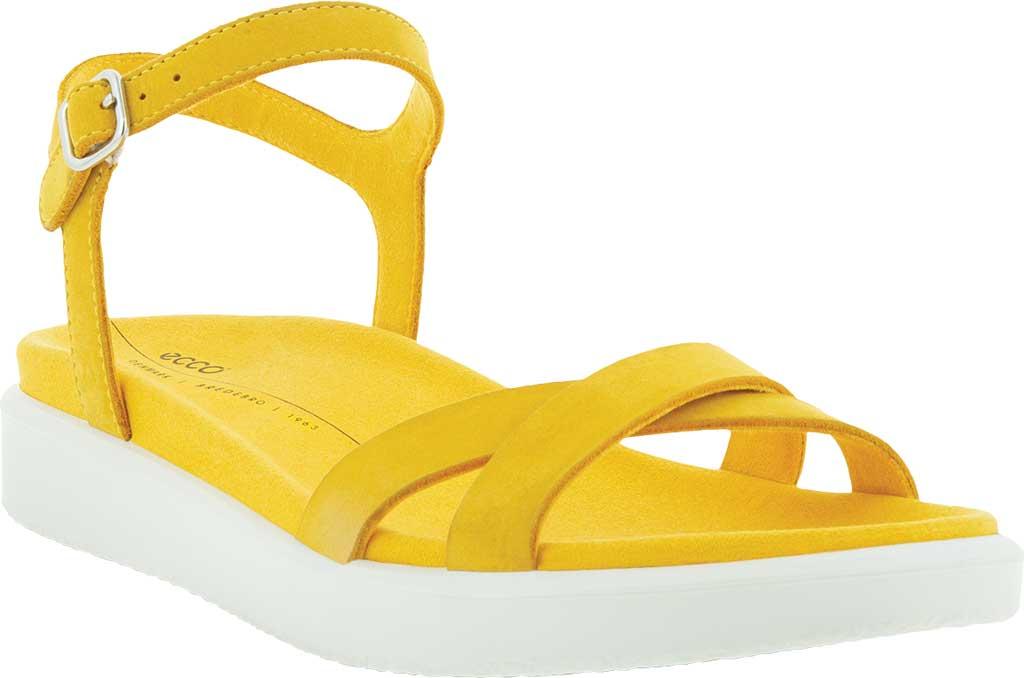 Women's ECCO Yuma Ankle Strap Sandal, Marigold Nubuck, large, image 1