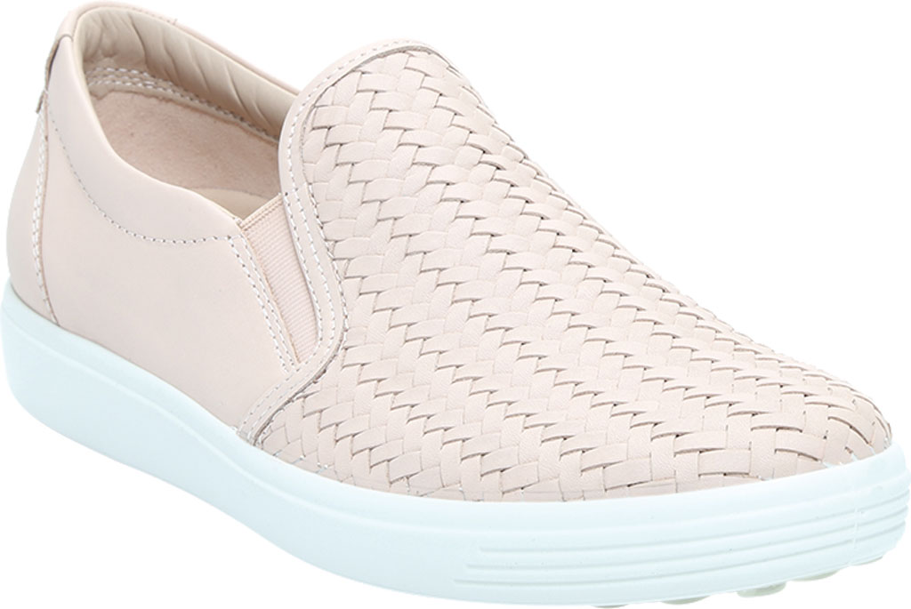 Women's ECCO Soft 7 Woven Slip On II Sneaker, Rose Dust Cow Leather, large, image 1