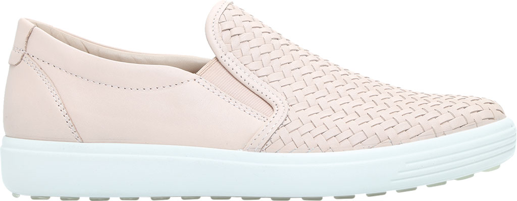 Women's ECCO Soft 7 Woven Slip On II Sneaker, Rose Dust Cow Leather, large, image 2