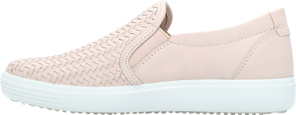 Women's ECCO Soft 7 Woven Slip On II Sneaker, Rose Dust Cow Leather, large, image 3