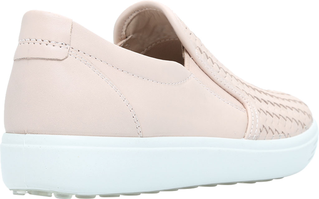 Women's ECCO Soft 7 Woven Slip On II Sneaker, Rose Dust Cow Leather, large, image 4