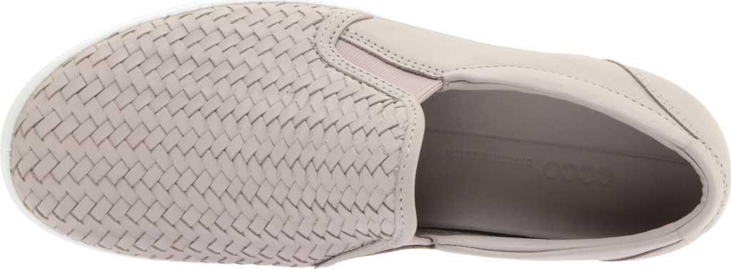 Women's ECCO Soft 7 Woven Slip On II Sneaker, Grey Rose Top Grain Leather, large, image 5