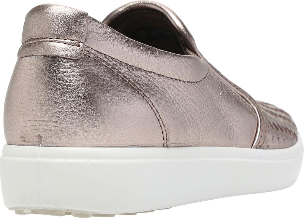 Women's ECCO Soft 7 Woven Slip On II Sneaker, Stone Metallic Cow Leather, large, image 4