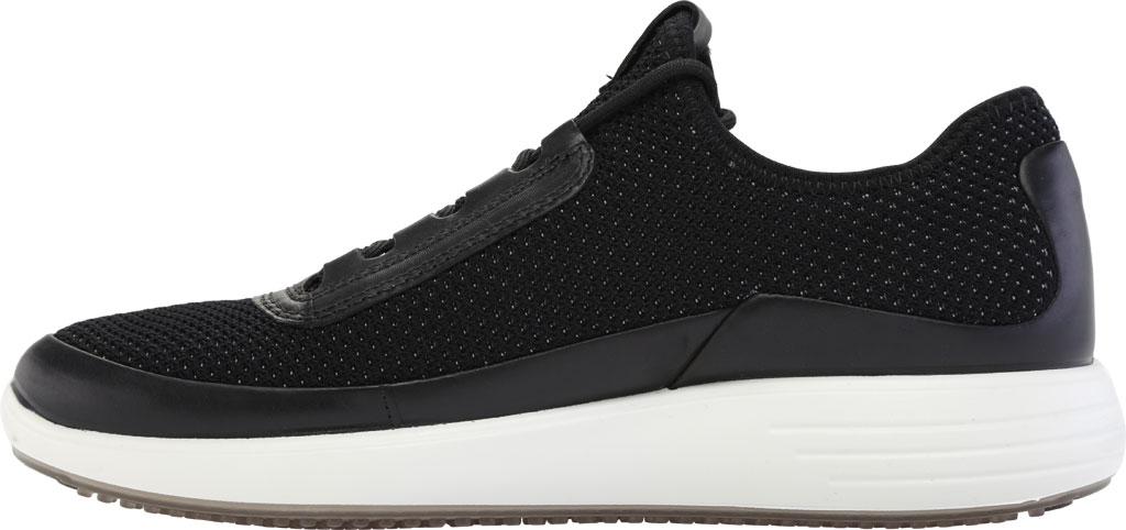 Men's ECCO Soft 7 Runner Summer Sneaker, Black/Black Nubuck/Textile, large, image 3