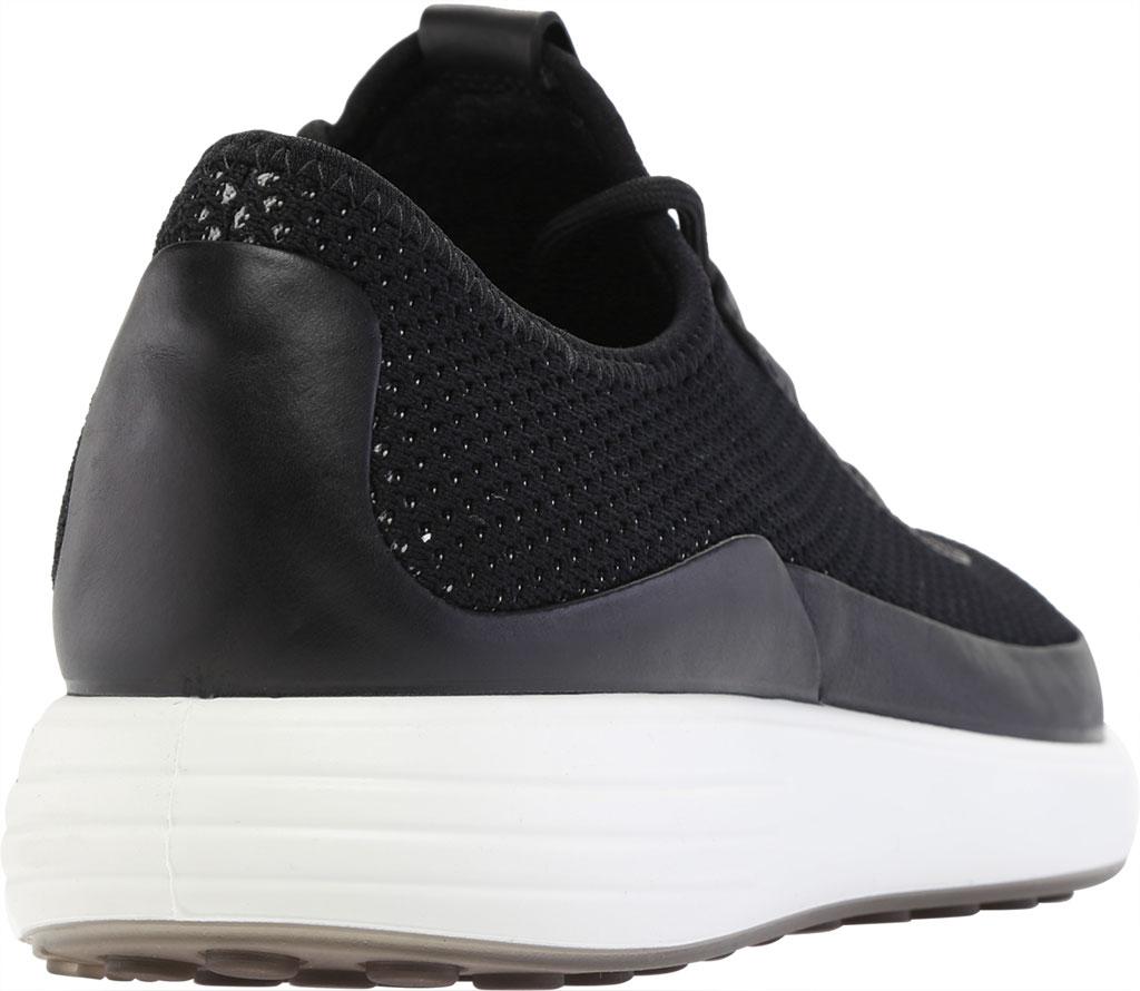 Men's ECCO Soft 7 Runner Summer Sneaker, Black/Black Nubuck/Textile, large, image 4