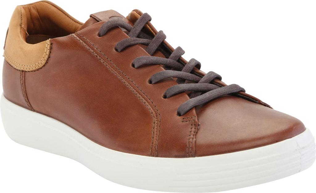 Men's ECCO Soft 7 Street Sneaker, Mahogany/Lion Leather, large, image 1