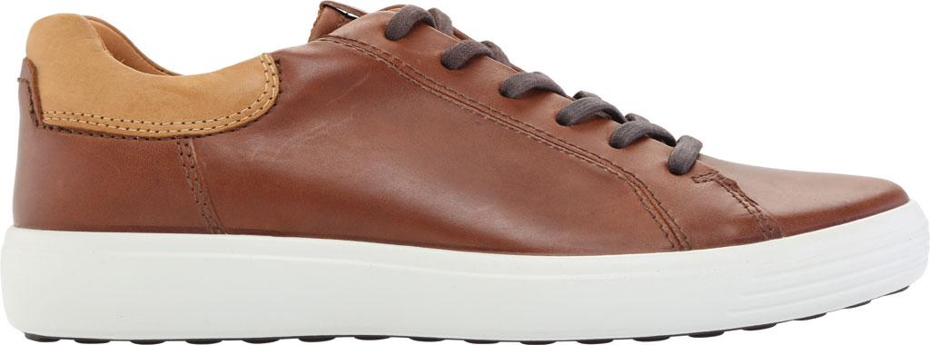Men's ECCO Soft 7 Street Sneaker, Mahogany/Lion Leather, large, image 2