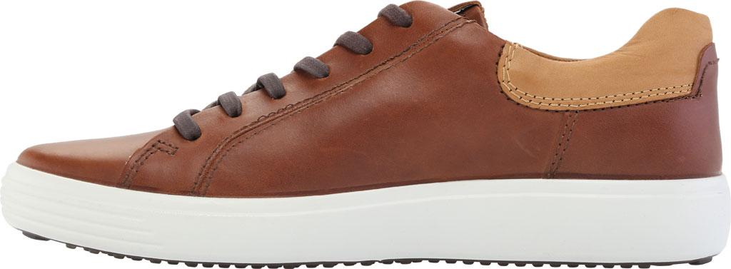 Men's ECCO Soft 7 Street Sneaker, Mahogany/Lion Leather, large, image 3