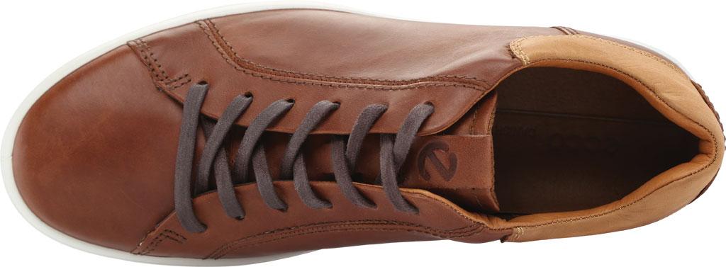 Men's ECCO Soft 7 Street Sneaker, Mahogany/Lion Leather, large, image 5