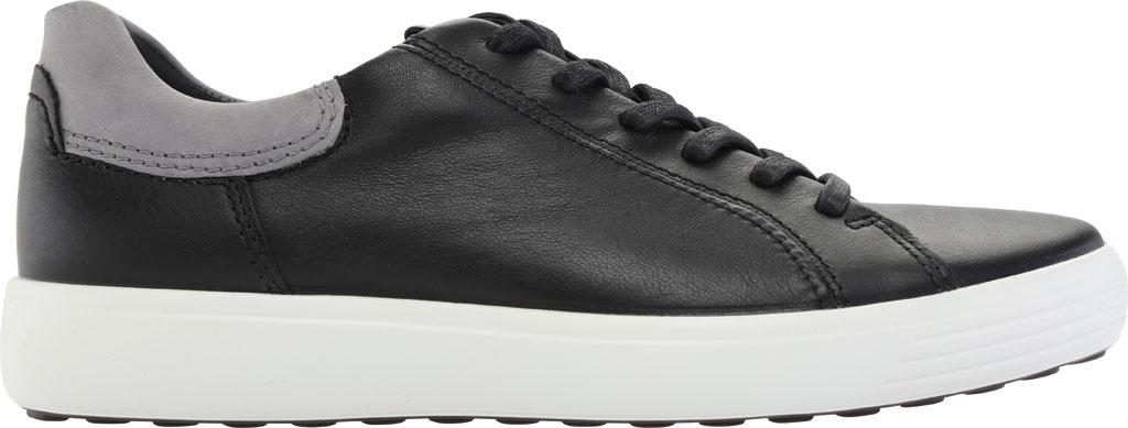 Men's ECCO Soft 7 Street Sneaker, Black/Titanium Cow Leather, large, image 2