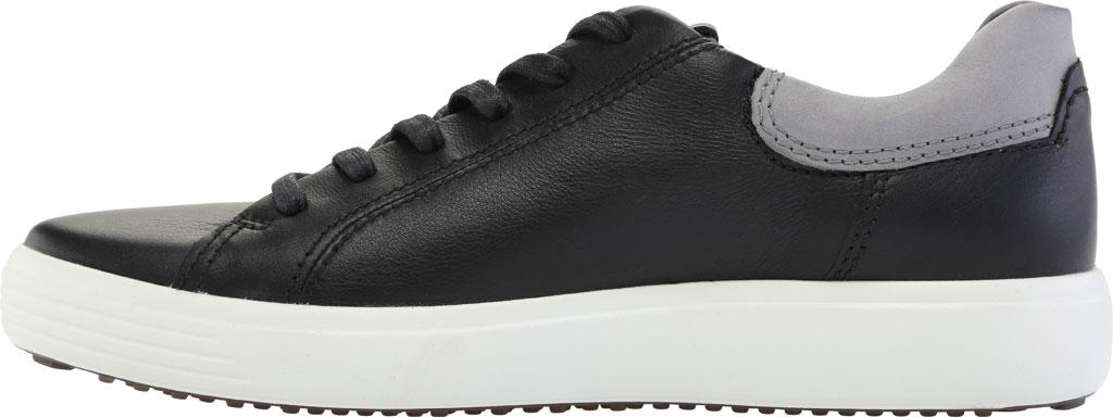Men's ECCO Soft 7 Street Sneaker, Black/Titanium Cow Leather, large, image 3