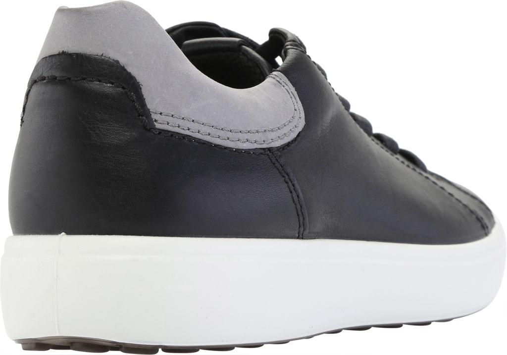 Men's ECCO Soft 7 Street Sneaker, Black/Titanium Cow Leather, large, image 4