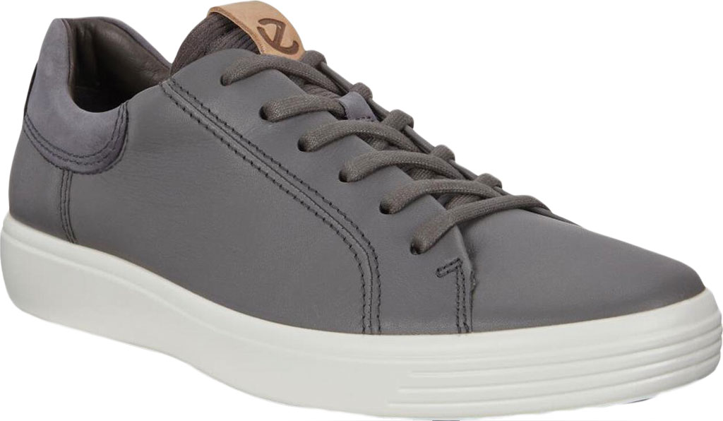 Men's ECCO Soft 7 Street Sneaker, Dark Shadow/Magnet/Magnet Cow Leather, large, image 1