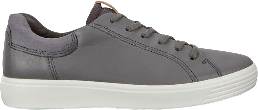 Men's ECCO Soft 7 Street Sneaker, Dark Shadow/Magnet/Magnet Cow Leather, large, image 2