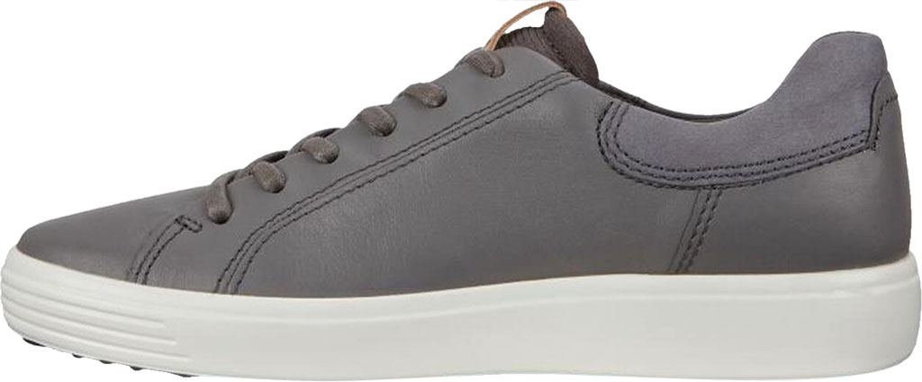 Men's ECCO Soft 7 Street Sneaker, Dark Shadow/Magnet/Magnet Cow Leather, large, image 3
