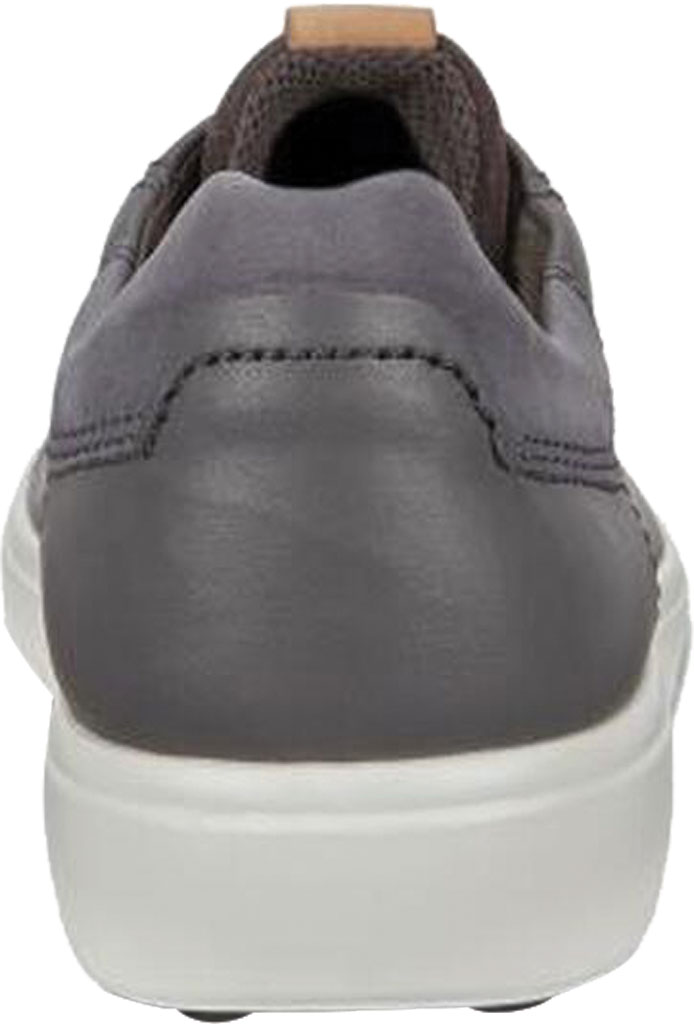 Men's ECCO Soft 7 Street Sneaker, Dark Shadow/Magnet/Magnet Cow Leather, large, image 4
