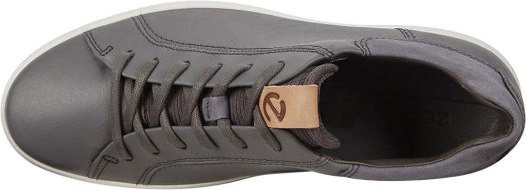 Men's ECCO Soft 7 Street Sneaker, Dark Shadow/Magnet/Magnet Cow Leather, large, image 5