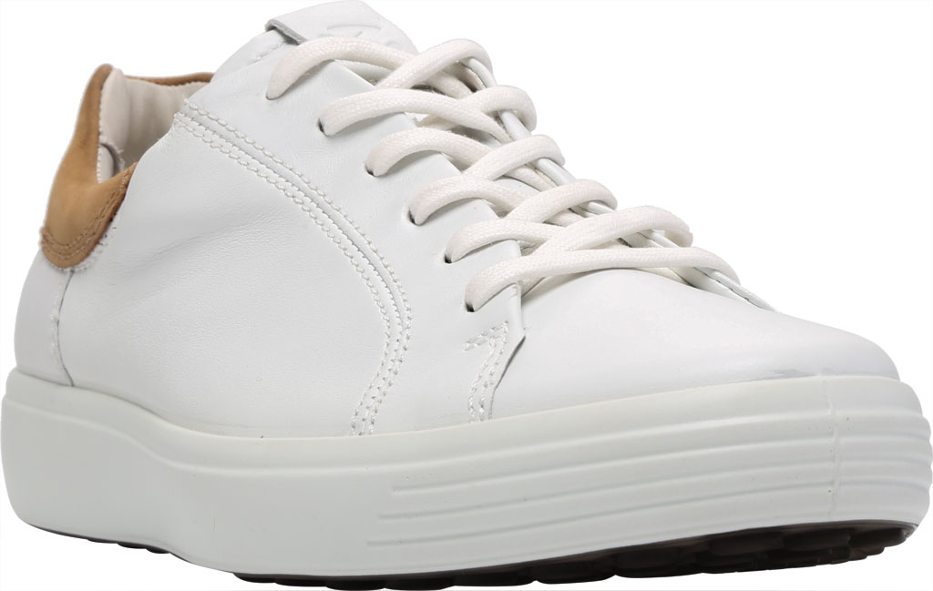 Men's ECCO Soft 7 Street Sneaker, White/Cashmere Leather, large, image 1