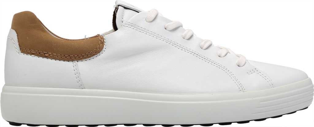 Men's ECCO Soft 7 Street Sneaker, White/Cashmere Leather, large, image 2