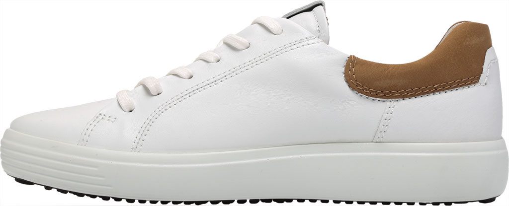 Men's ECCO Soft 7 Street Sneaker, White/Cashmere Leather, large, image 3