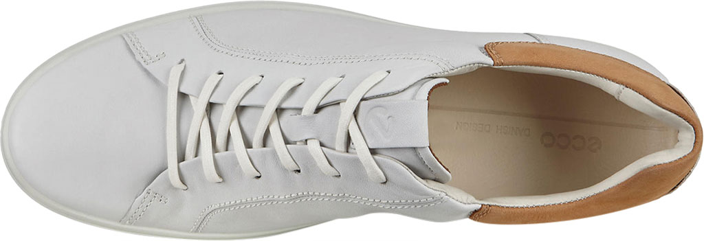 Men's ECCO Soft 7 Street Sneaker, White/Cashmere Leather, large, image 5