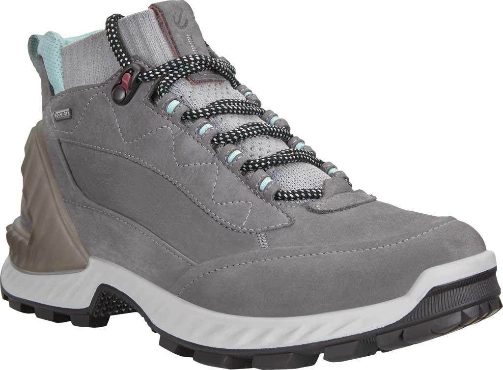 Women's ECCO Exohike High GORE-TEX Hiking Boot, Titanium/Concrete Yak Nubuck, large, image 1
