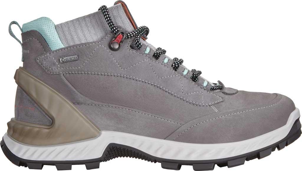 Women's ECCO Exohike High GORE-TEX Hiking Boot, Titanium/Concrete Yak Nubuck, large, image 2