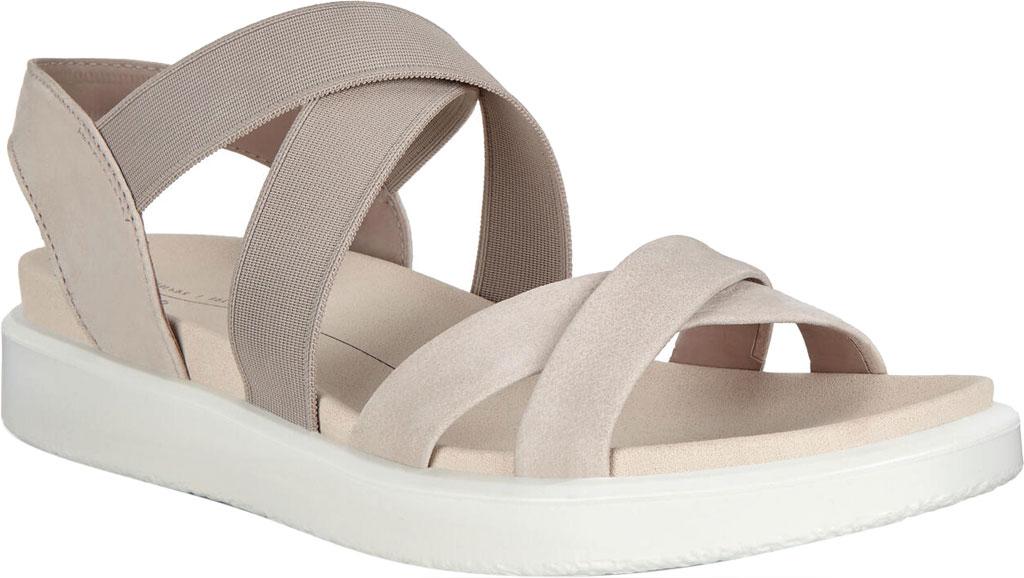Women's ECCO Flowt Elastic Active Sandal, Grey Rose Nubuck, large, image 1